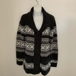 Button down sweater cardigan grays  size Small